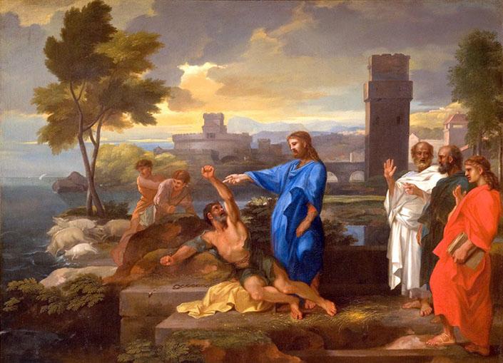 Христос, біснуватий та гадаринські жителі